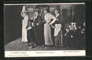 AK Langensalza, Französisches Theater, Kriegsgefangene bei einer Aufführung