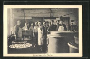 AK Sprottau, Kriegsgefangene im Innenraum der Küche