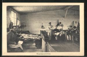 AK Sprottau, Krankenzimmer mit Kriegsgefangenen