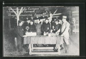 AK Langensalza, Essenausgabe in Barcke, Kriegsgefangene