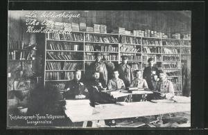 AK Langensalza, Bibliothek in Kriegsgefangenenlager