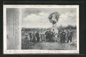 AK Langensalza, Einweihung eines Denkmals im Kriegsgefangenenlager