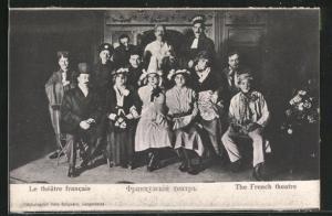 AK Langensalza, Le théâtre francais, Französ. Kriegsgefangene, Theatergruppe
