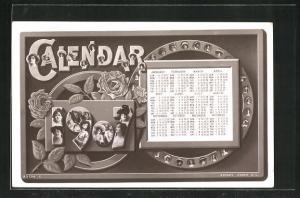 AK Calendar 1907, Chrous Girls, Kalender