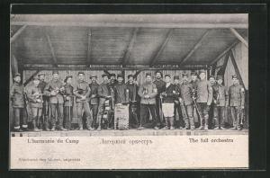 AK Langensalza, L`harmonie du Camp, Kriegsgefangenenorchester