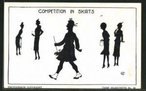 AK Camp Silhouette Nr.22, Competition in Skirts, Scherenschnitt