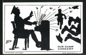AK Camp Silhouette: Our Camp Concert, Scherenschnitt