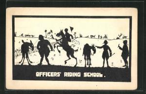 AK Officers Riding School, Scherenschnitt