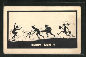AK Mount Gun!!, Scherenschnitt