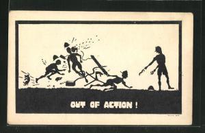 AK Out Of Action!, Scherenschnitt