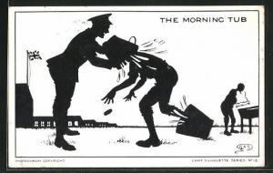 AK Camp Silhouette Nr.12, The Morning Tub, Scherenschnitt