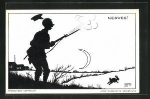 AK Camp Silhouette Nr.3, Nerves!, Scherenschnitt
