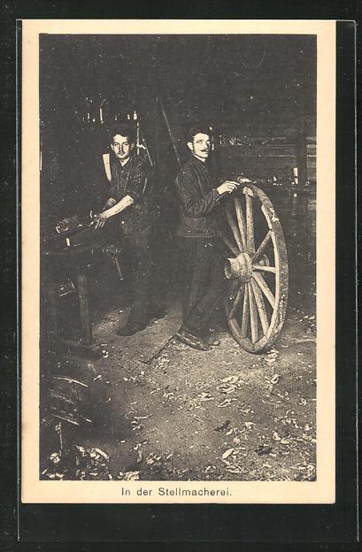 AK Sprottau, Kriegsgefangene in der Stellmacherei 0