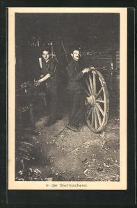 AK Sprottau, Kriegsgefangene in der Stellmacherei