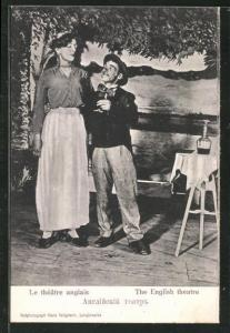 AK Langensalza, Kriegsgefangene bei einer Aufführung des English Theatre