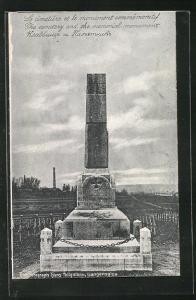 AK Langensalza, Kriegsgefangenenlager, Friedhof mit Memorial Monument