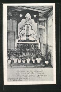 AK Langensalza, Kriegsgefangenenlager, Innenansicht der Kapelle