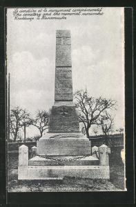 AK Langensalza, Kriegsgefangenenlager, Memorial Monument auf dem Friedhof