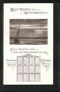 AK Kalender 1909, Morning Calm