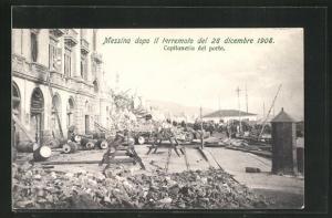 AK Messina, terremoto del 28 dicembre 1908, Capitaneria del porto, Erdbeben