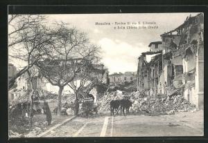 AK Messina, Rovine di via S. Liberale e della Chiesa delle Grazie, Zerstörungen nach dem Erdbeben