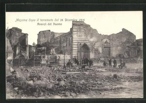 AK Messina, Terremoto del 28 dicembre 1908, Avanzi del Duomo, Zerstörungen nach dem Erdbeben