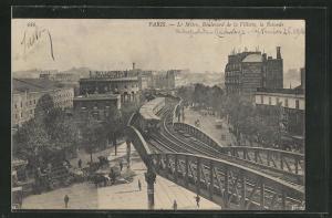 AK Paris, Le Métro, Boulevard de la Villette, la Rotonde