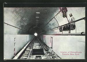 AK New York, Interior of Pennsylvania Tunnels, U-Bahn-Station
