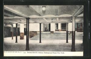 AK New York, Twenty-Third St. Station, Underground Road, U-Bahn-Station