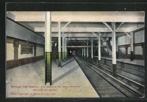 AK New York, Borough Hall Station, U-Bahn-Station