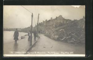 AK Messina, Rovine, Via V. Eman., Zerstörte Häuser nach dem Erdbeben 1908