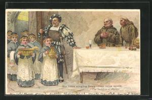 Lithographie The Jackdow of Reims, Six little singing boys - dear little souls, Chorknaben