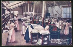 AK Barkingside, Dr. Barnardo`s Homes, Ironing Room, Girl`s Village Homes, Bügeln