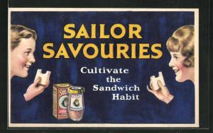 AK Sailor Savouries - Cultivate the Sandwich Habit, Reklame, Brotaufstrich