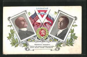AK American Y.M.C.A., Präsident der USA und Masaryk