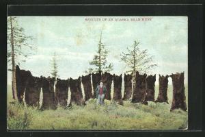 AK Results of an Alaska Bear Hunt, Jäger mit Bärenfellen