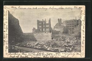 AK San Francisco, CA, Cal. Pioneer Bldg, 4th St., Erdbeben