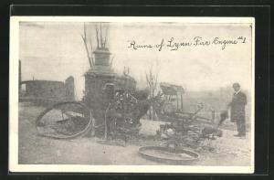 AK Ruins of Lynn Fire Engine #1, Wrack eines Pumpenwagens der Feuerwehr