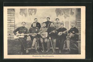 AK Russische Musikkapelle, Kriegsgefangene