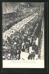 AK London, Eucharistic Congress 1908, Great Procession