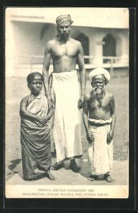 AK Franco-British Exhibition 1908, Hagenbecks Ceylon Village and Indian Arena, Indische Liliputaner