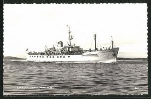 AK R.M.V. Scillonian leaving Scilly, Passagierschiff