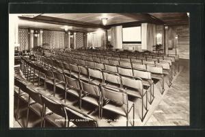 AK Empress of Canada, Social Hall as Cinema, Kino auf Passagierschiff