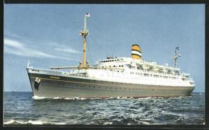 AK Passagierschiff S.S. Ryndam auf See