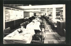 AK Canadian Pacific Empress of Britain Tourist Restaurant, Passagierschiff