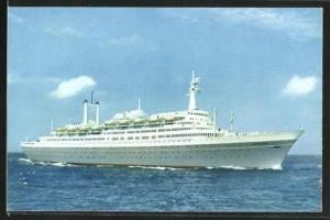 AK Holland-America Line Passagierschiff S.S. Rotterdam