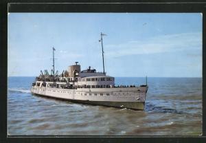 AK Passagierschiff M.V. Royal Sovereign, Bugansicht