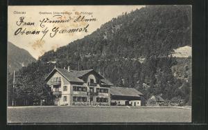 AK Oberau, Gasthaus Untermberg von G. Pöttinger