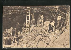 AK Stassfurt, Bergarbeiter beim Abbau im Kainit