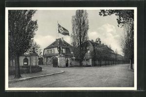 AK Radeberg,  am Eingang der Kaserne